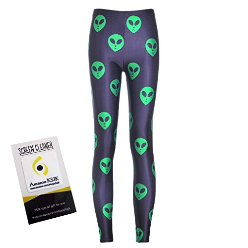 Alien Heads Stretch Leggings