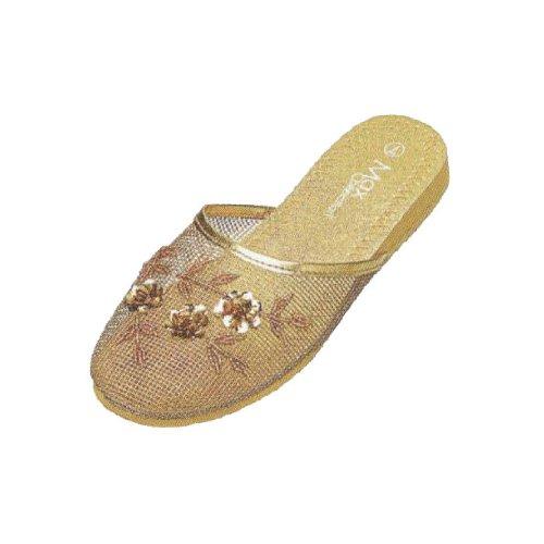 Cheap Mesh Slippers – Gold (B00354UNUK)
