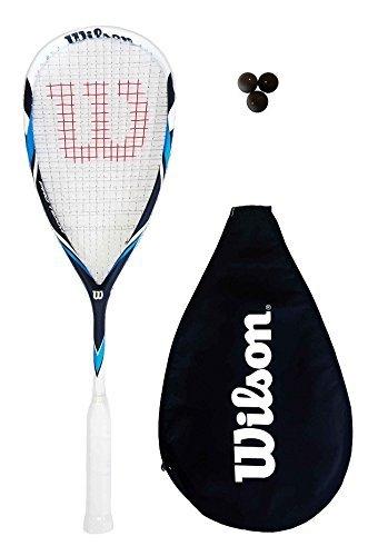 Wilson Pro Team racchetta da squash + Cover + 3 Squash Palle RRP £ 100