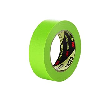 3M High Performance Green Masking Tape 401+/233+, 12 mm x 55 m (Case of 48)