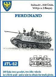 Friulmodel Atl62 1:35 Metal Track Link Set W/Drive Sprockets & Idlers For Elefant