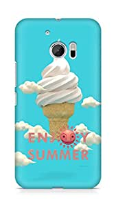 Amez designer printed 3d premium high quality back case cover for Htc One M10 (Happy Summer)
