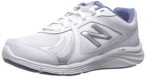 New Balance Women's 496v3 Walking Shoe, White/Blue, 8 D US
