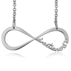 One Direction Stainless Steel Infinite Directioner Necklace 5 Grams 23.4 Inches Width 1.56 Inches