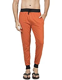 Clifton Men's Ribbed Slim Fit Track Pant - Rust