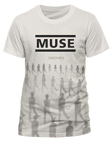 Muse Muse Drones-T-shirt  Uomo    nero Medium