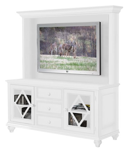 Riverside Furniture 1150O / 1151O Color Me Classic 64â TV Console with Deck in Bright White