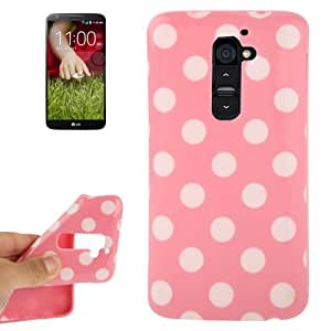 Pink and White Dot Pattern TPU Case for LG Optimus G2 / D801