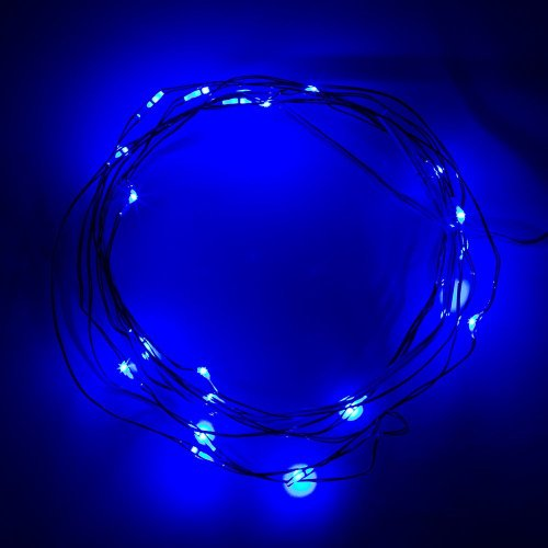 Hkbayi New Copper Soft Led Lights Wire Strings Starry Starry Lights Fairy Lights Potted Plants Led Lights Strings For Valentine'S Day Birthday Festival Kid'S Led Gift Aa Battery Operated (Blue)