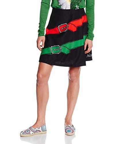 Desigual Skirt Fal_Idalia, 2000 Negro, 42