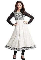 Nirali Women's Georgette Salwar Kameez Semistitched Dress Material - Free Size (Multicolor)