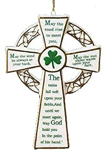 Porcelain Irish Cross Christmas Ornament New Celtic Gift