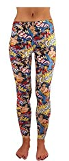 DC Comics Wonder Woman and Batgirl Crash Bam Sublimation Leggings
