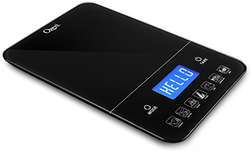 Ozeri ZK19 Touch III 10 kg Digital Kitchen Scale with Calorie Counter, 22 lb, Black (Food Calorie Scale compare prices)