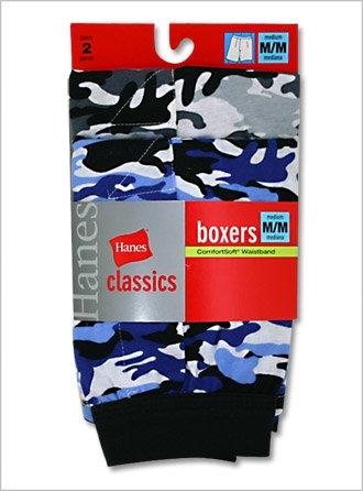 Classics Boys ComfortSoft Printed Knit Boxer (Camo)