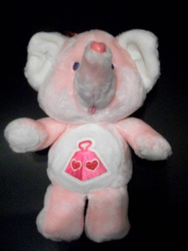 "Vintage Care Bears Cousins 13"" Lotsa Heart Elephant Kenner Plush"