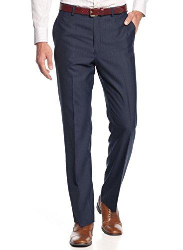 Calvin Klein Ck Slim Fit Blue Dress Pants 32W X 32L Flat Front Trousers