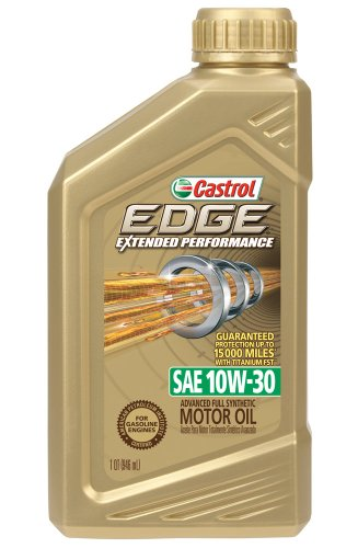 Castrol 06241 EDGE 10W-30 Extended Performance Synthetic Motor Oil - 1 Quart Bottle, (Pack of 6) (Castrol 10w30 Synthetic Motor Oil compare prices)