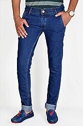 Routeen Men's Dark Blue Slim Fit Denim Jeans (JTMDRLD6000DB_34)