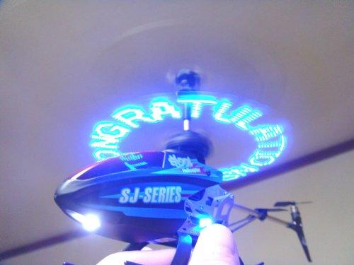 3.5ch 赤外線RCヘリコプター SJ991 (ブラック)(ラジコンヘリ/ジャイロ搭載/メッセージヘリ)