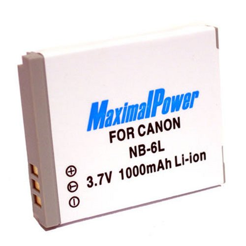 Maximal Power DB CAN NB-6L Replacement Battery for Canon Digital Cameras/Camcorders