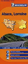 Michelin Map Alsace/Lorraine, France (Michelin Maps)
