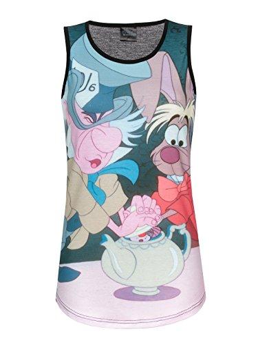 Walt Disney Alice in Wonderland - Tea Time Top donna stampa allover M