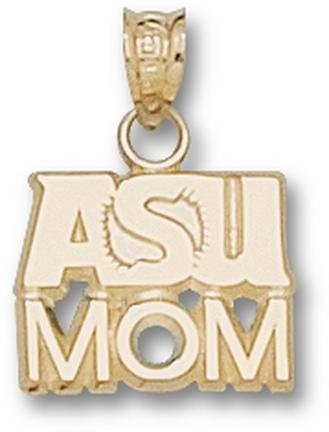 Arizona State Sun Devils ASU Mom Pendant - 14KT Gold Jewelry by Logo Art