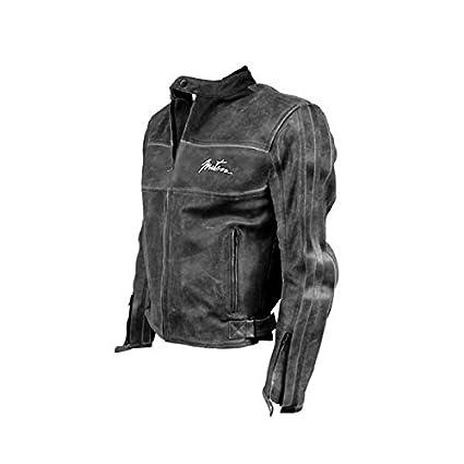 Blouson Moto cuir VINTAGE Homme Noir Taille XXXL