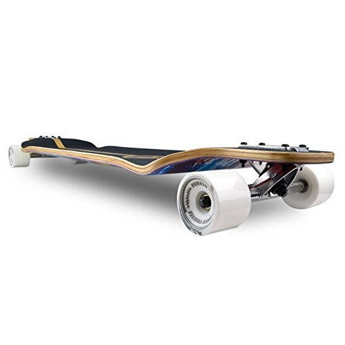 Punked Lowrider Drop Down Through Longboard Complete  Skateboard