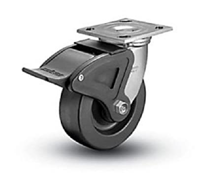 "Colson Swivel Plate Caster Heavy Duty Phenolic 8"" x 2"" Wheel & Total Lock Brake"
