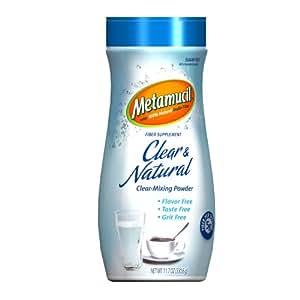 Metamucil Inulin Clear & Natural Clear-Mixing Fiber Powder 57 Servings 11.7 Oz