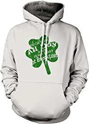 You Can't Drink All Day If You Don't Start at Breakfast Hoodie (White) by Crazy Dog Tshirts
