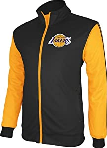 Los Angeles Lakers Adidas Lightweight Polyester Mesh Jacket - Black from Adidas