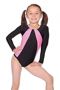 Roch Valley 'Skip' - Justaucorps de gymnastique Noir/Rose fluo 1 (110-116cm)