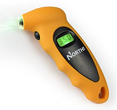 NorthONE(TM) Digital Tire Pressure Gauge, 100 PSI, 4 Settings, Quickly and Accurately Monitor Tire Air Pressure for Cars, Trucks, Motorcycles and Bicycles.
