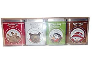 Swiss Miss Hot Cocoa Mix Assortment Gift Pack 4 Tins - 25.5 oz Total