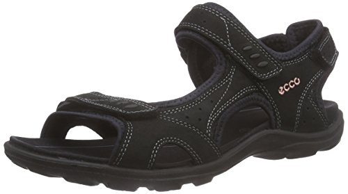 ECCO Women's Kana Sport Sandal, Black, 38 EU/7-7.5 M US