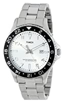 Timex Men's T2P027KW Ameritus Sport White Sunray Dial, Stainless Steel Bracelet Watch by Timex