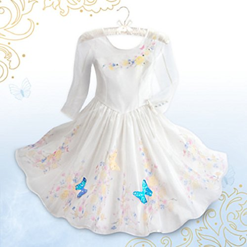 Disney - Cinderella Deluxe Wedding Costume for Girls - Live Action Film - Size 7/8