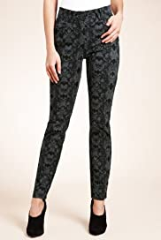 Abstract Print Stretch Denim Jeggings [T54-8095B-S]
