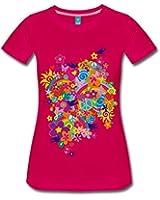 Spreadshirt Damen Sommer Flower Power T-Shirt