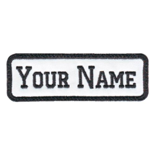 Embroidered Personalised Name Tag Patch with Multicoloured Border