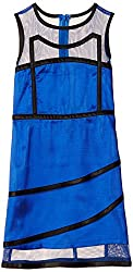 Herberto Girls' Party and Evening Dress (HRBT-DRESS-113-1_Blue_3 - 4  years)