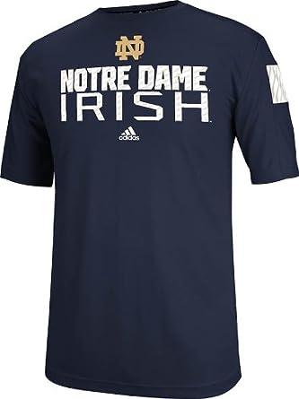 Notre Dame Fighting Irish Adidas Navy 2014 Player Sideline Crew T-Shirt by adidas