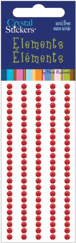 Mark Richards Crystal Stickers Elements 3mm Round: Red