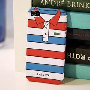 Lacoste T SHIRT Case for Iphone 4 + 1 SCREEN PROTECTOR FILM