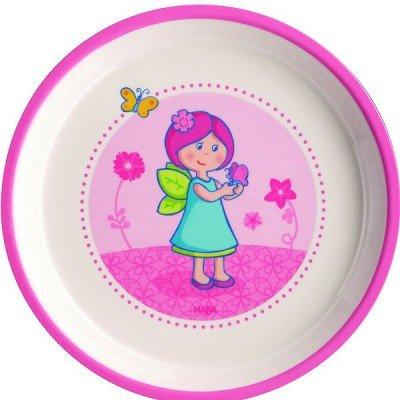 Assiette en mélamine - Elfe fleurs : 18 cm