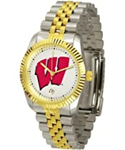 Wisconsin Badgers NCAA Mens Steel Executive Watch