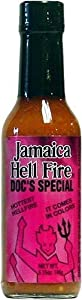 Jamaica Hell Fires Docs Special Hot Sauce 5 Fl Oz by AmericanSpice.com